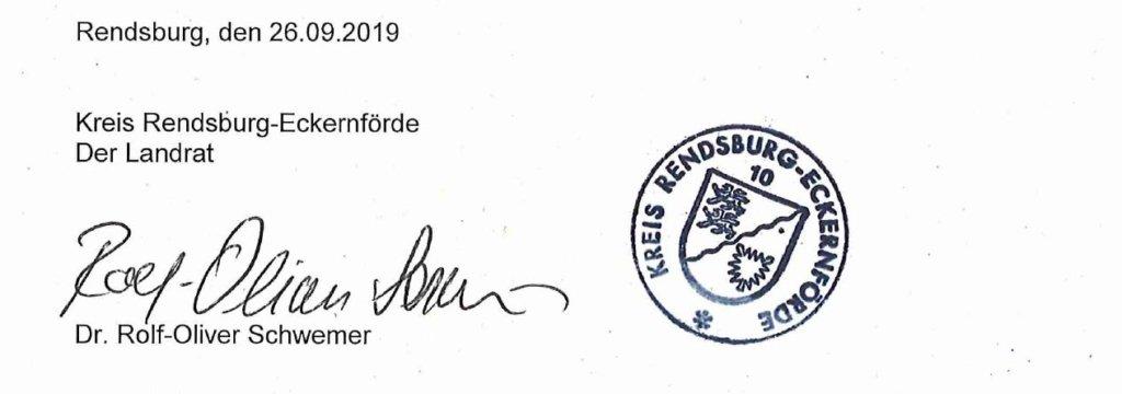 Der Landrat Kreis Rendsburg Eckernförde